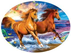 Beach Run Horses Jigsaw Puzzle