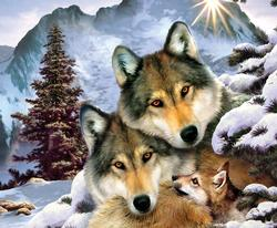 Wolves in Harmony Wolves Jigsaw Puzzle