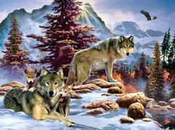 New Dawn Wolves Jigsaw Puzzle