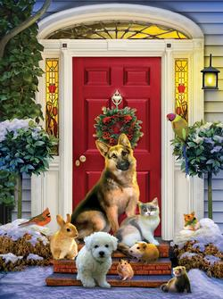 The Welcoming Committee - Scratch and Dent Snow Jigsaw Puzzle