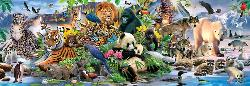 Around the World Wildlife Panoramic Puzzle