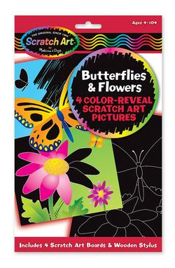 Color-Reveal Pictures - Butterflies & Flowers Arts and Crafts