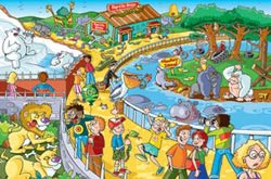 A Trip to the Zoo (Find the Difference) Cartoons Jigsaw Puzzle