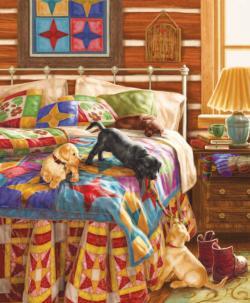 Bedtime Battle Domestic Scene Jigsaw Puzzle