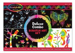 Deluxe Combo Scratch Art Set Arts and Crafts