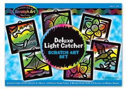 Deluxe Light Catcher Scratch Art Set Arts and Crafts
