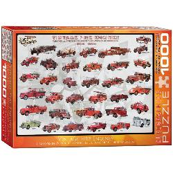 Vintage Fire Engines Pattern / Assortment Jigsaw Puzzle