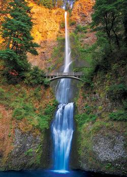 Multnomah Falls, Columbia River Gorge, OR Bridges Jigsaw Puzzle