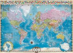 Map of the World with Flags Geography Jigsaw Puzzle