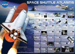 Space Shuttle Atlantis Space Jigsaw Puzzle