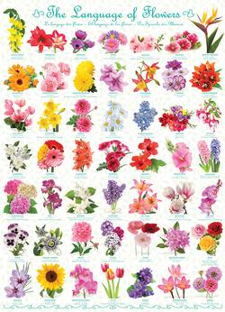 The Language of Flowers Pattern / Assortment Jigsaw Puzzle