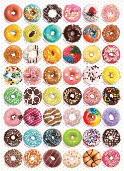 Donuts Pattern / Assortment Jigsaw Puzzle