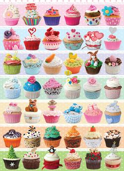 Cupcakes Celebration Pattern / Assortment Jigsaw Puzzle