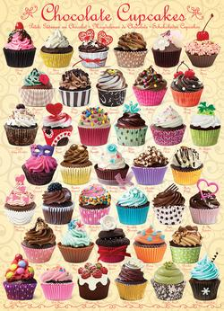 Chocolate Cupcakes Pattern / Assortment Jigsaw Puzzle