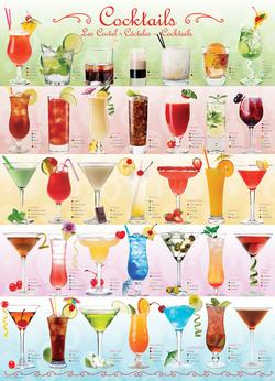 Cocktails Pattern / Assortment Jigsaw Puzzle
