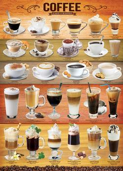 Coffee Pattern / Assortment Jigsaw Puzzle