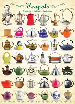Teapots Pattern / Assortment Jigsaw Puzzle