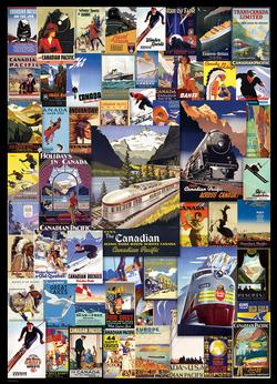 Canadian Pacific - Railroad Adventures Collage Jigsaw Puzzle