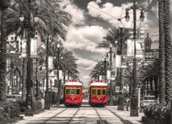 New Orleans - Streetcars (City Collection) Street Scene Jigsaw Puzzle