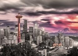 Seattle City Skyline Sunrise/Sunset Jigsaw Puzzle