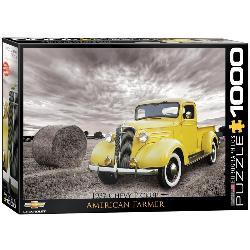 1937 Chevy Pickup Truck - American Farmer Nostalgic / Retro Jigsaw Puzzle