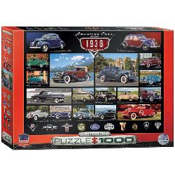 American Cars of the 1930's Collage Jigsaw Puzzle