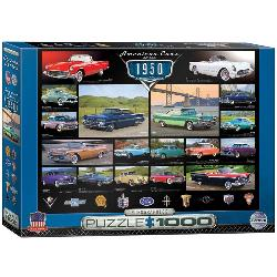 American Cars of the 1950's (Cruisin' Series) Collage Jigsaw Puzzle
