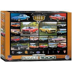 American Cars of the 1960's - Scratch and Dent Collage Jigsaw Puzzle