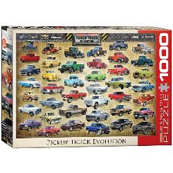 Pickup Truck Evolution Collage Jigsaw Puzzle