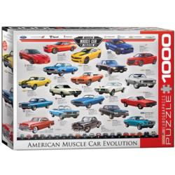 American Muscle Car Evolution Pattern / Assortment Jigsaw Puzzle