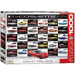Corvette Evolution Collage Jigsaw Puzzle