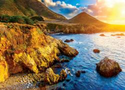 Sunset on the Pacific Coast Sunrise/Sunset Jigsaw Puzzle
