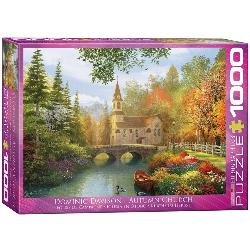 Autumn Church Lakes / Rivers / Streams Jigsaw Puzzle
