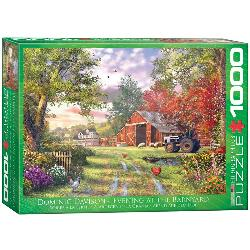 Evening at the Barnyard Spring Jigsaw Puzzle