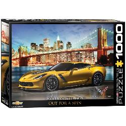 Out for a Spin (2015 Chevrolet Corvette Z06) Photography Jigsaw Puzzle