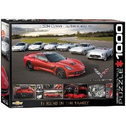 It Runs in the Family (2014 Corvette Stingray) Cars Jigsaw Puzzle