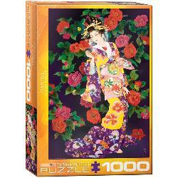 Tsubaki Asian Art Jigsaw Puzzle