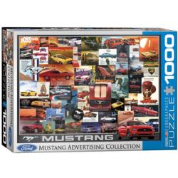 Ford Mustang (Vintage Ads) Collage Jigsaw Puzzle