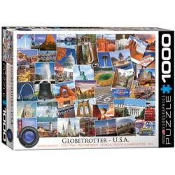 Globetrotter USA Collage Jigsaw Puzzle