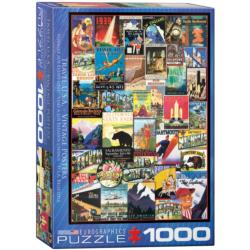 Travel USA (Vintage Ads) Collage Jigsaw Puzzle