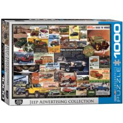 Jeep (Vintage Ads) Collage Jigsaw Puzzle
