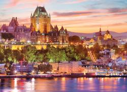 Le Vieux - Quebec - Scratch and Dent Sunrise / Sunset Jigsaw Puzzle