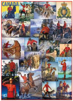 Royal Canadian Mounted Police Collage (Small Box) Collage Large Piece