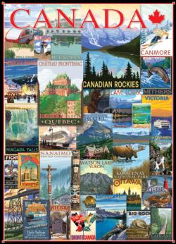 Travel Canada (Vintage Ads) Collage Jigsaw Puzzle