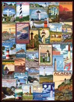 Lighthouses Collage Impossible Puzzle