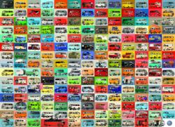 The Volkswagon Groovy Bus Collage  Pattern / Assortment 2000 and above