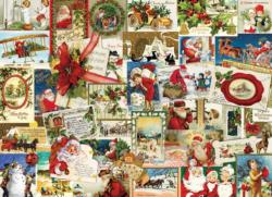 Vintage Christmas Cards Collage Impossible Puzzle
