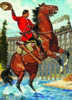 RCMP Train Salute Horses