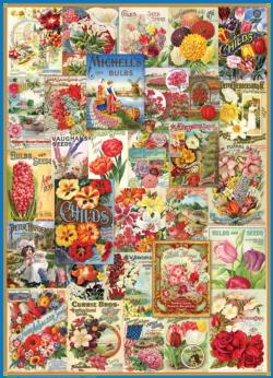 Flowers Seed Catalogue Collection Collage Jigsaw Puzzle
