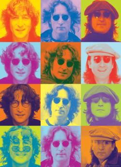 John Lennon Color Portraits Collage